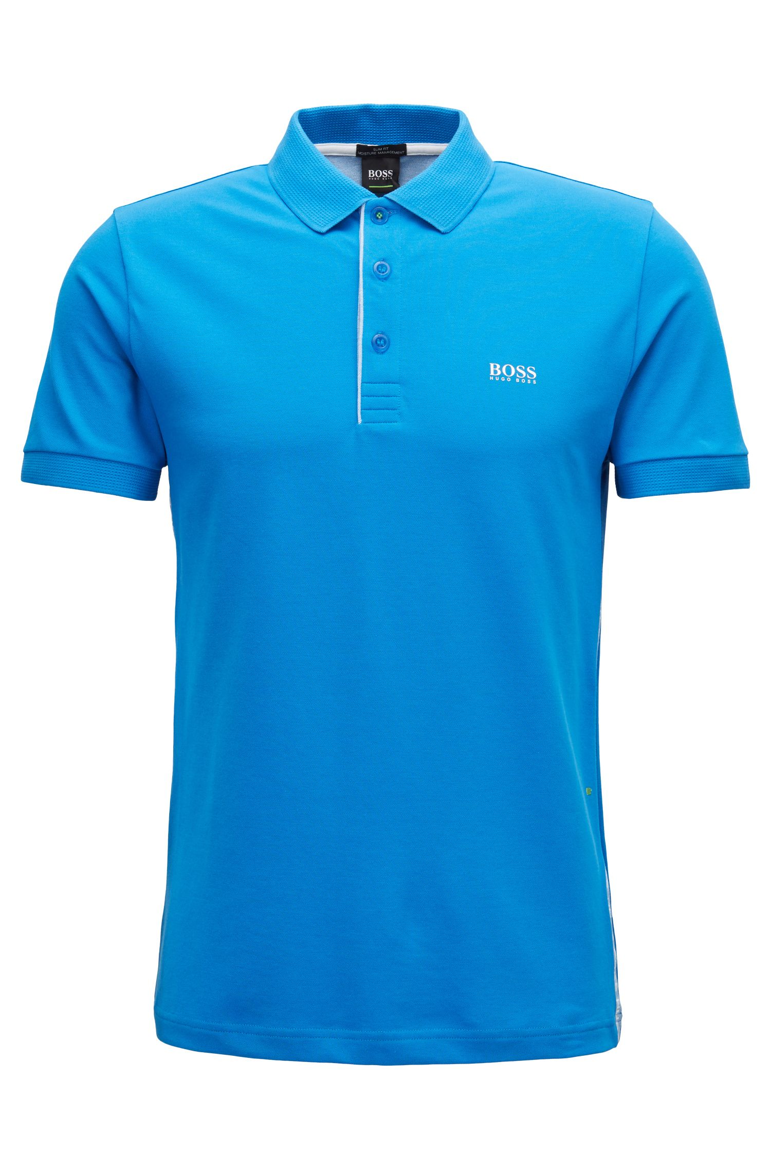 Slim-fit polo shirt with S.Café® and side-seam branding