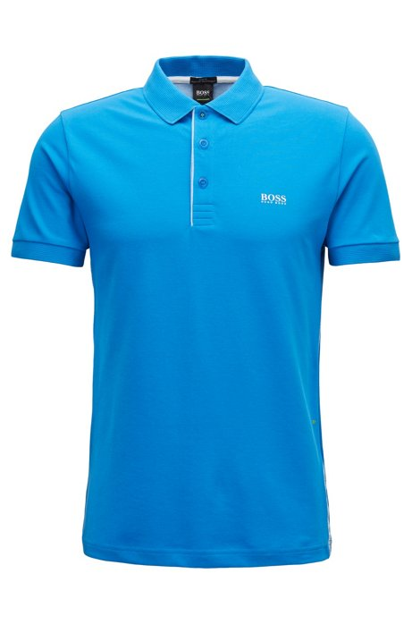 23f62c62 BOSS - Slim-fit polo shirt with S.Café® and side-seam branding