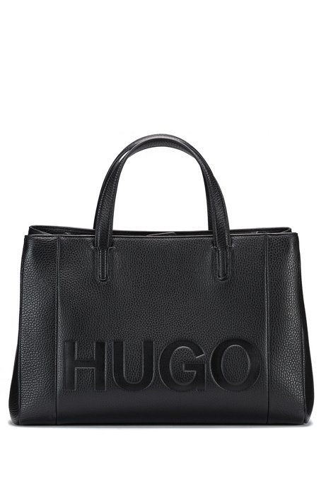 Leather shoulder bag with embossed logo HUGO BOSS GPhOFI