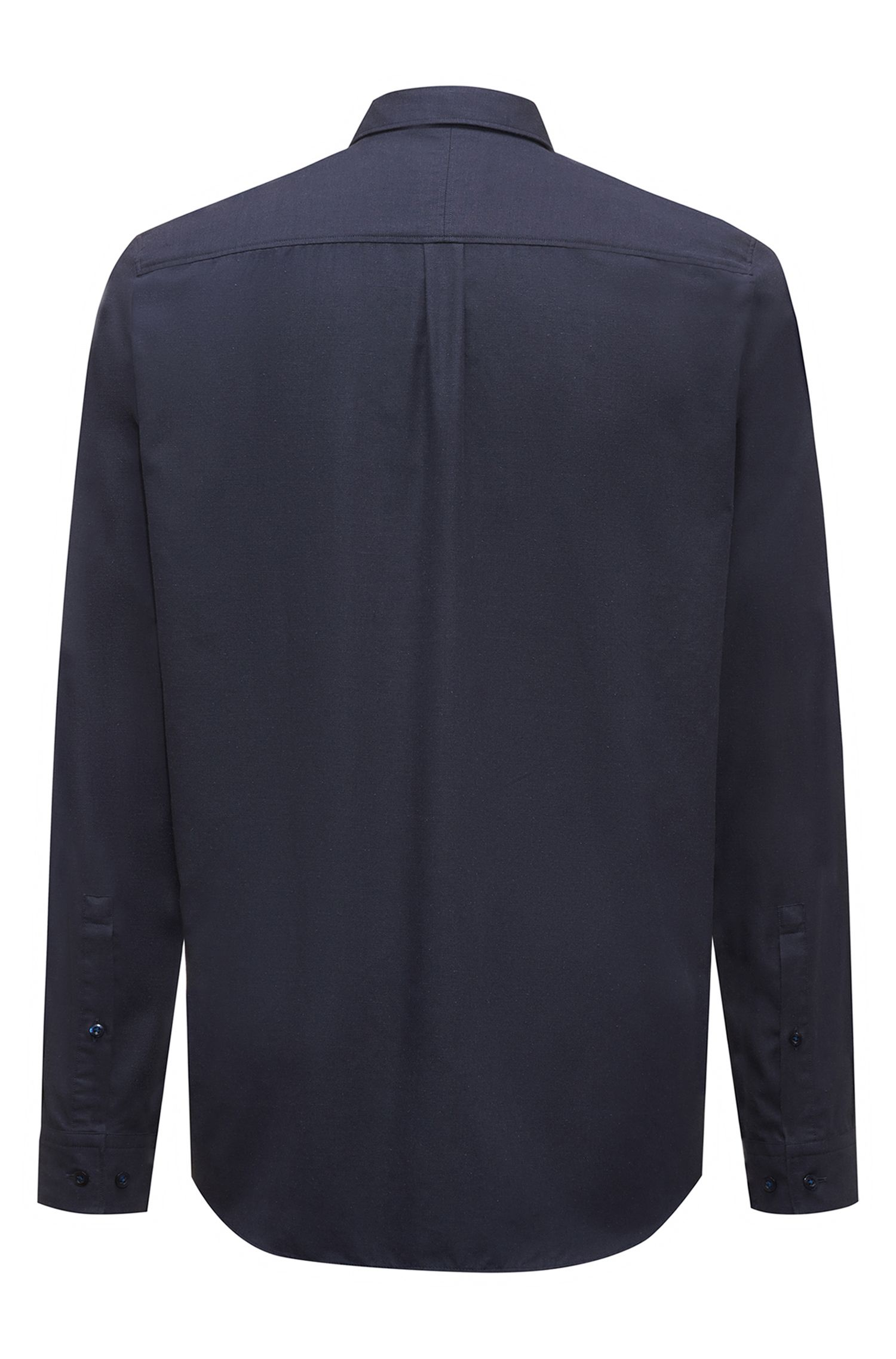 Relaxed-fit cotton-blend shirt with recycled materials, Dark Blue