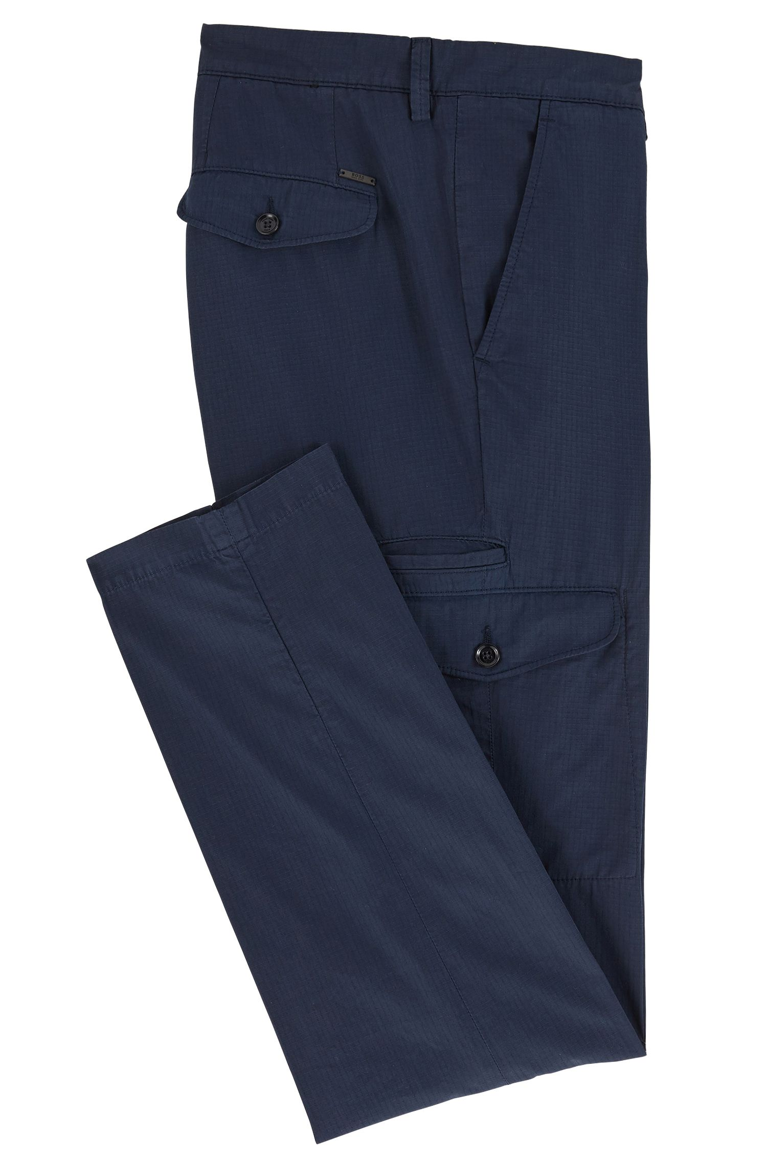 Cotton Cargo Pant, Tapered Fit | Kailo D, Dark Blue