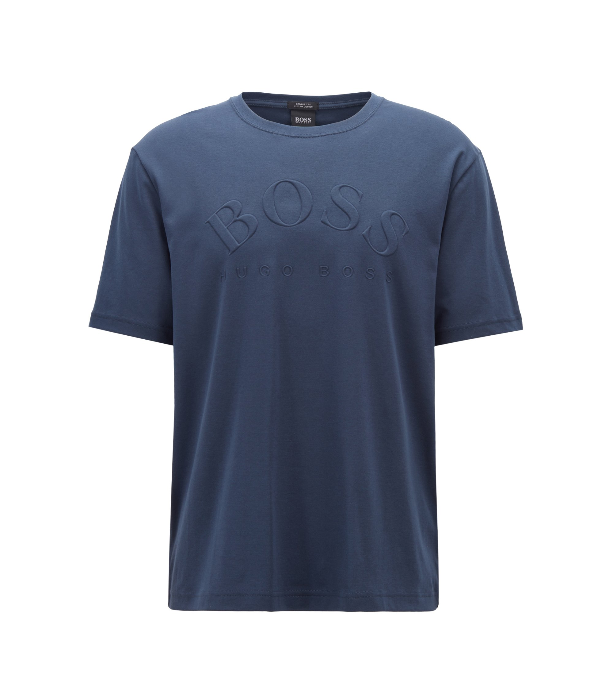 Cotton T-shirt with heritage-inspired logo, Dark Blue