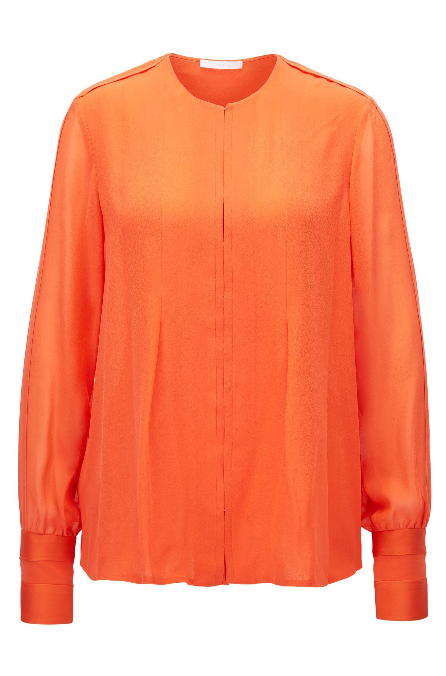 Silk Blouse | Borisa GC, Orange
