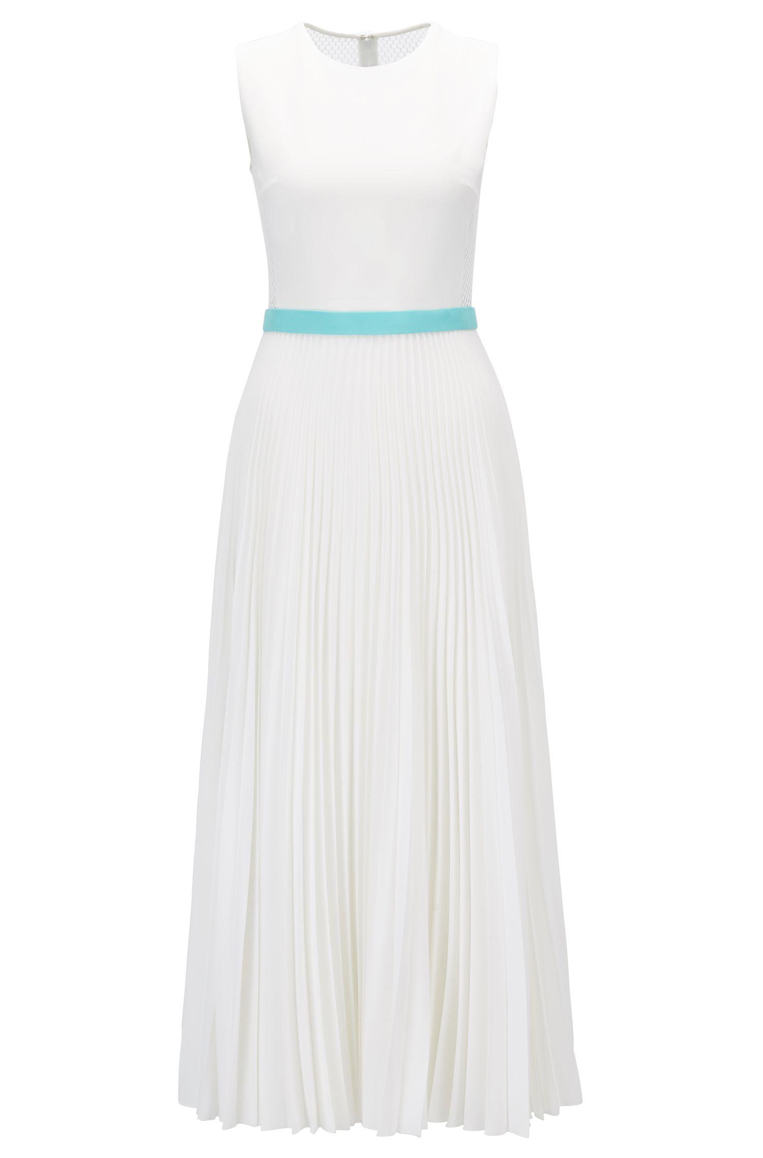 Sleeveless Dress With Plissé Skirt | Dipama GC