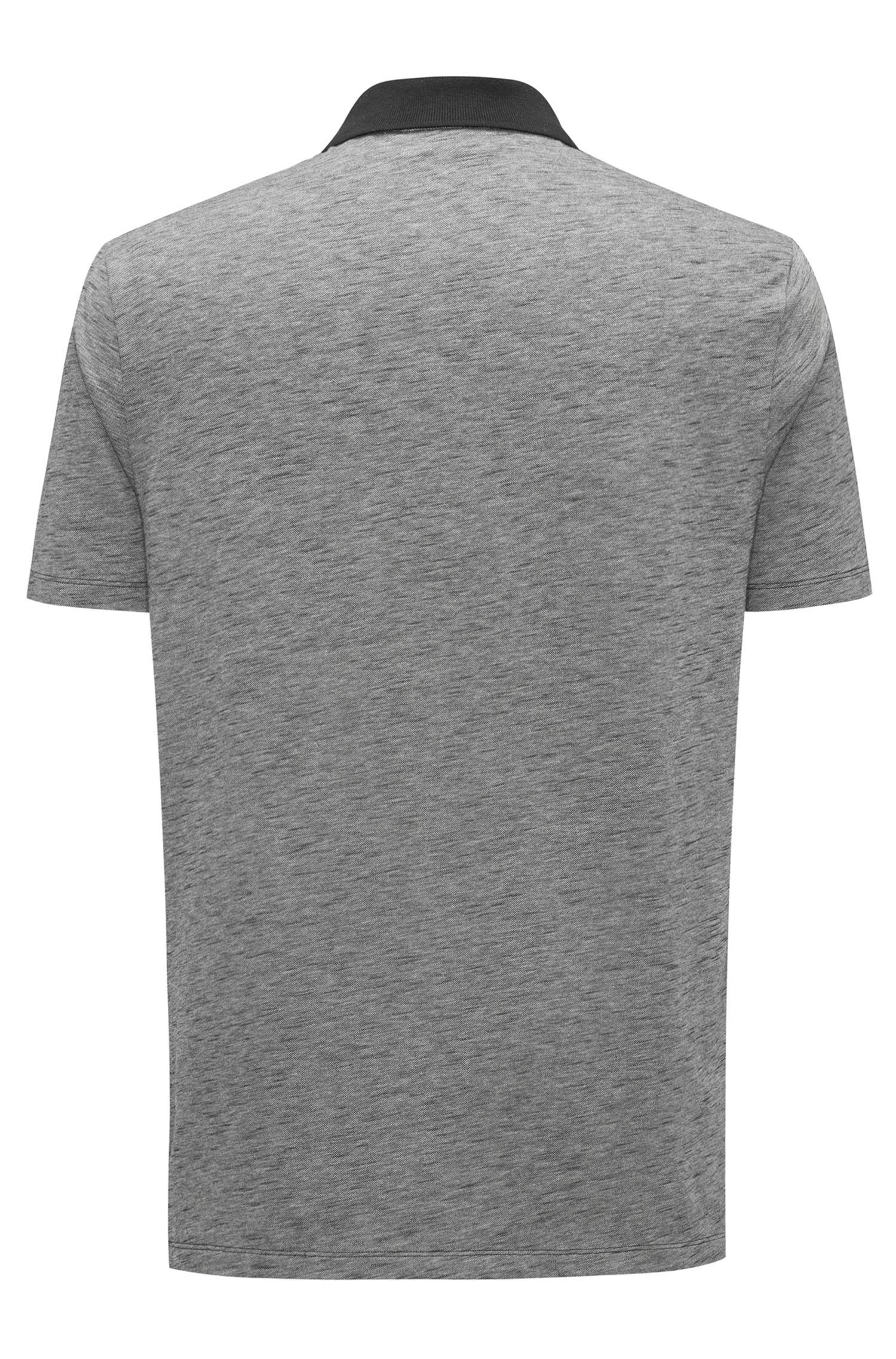Polo shirt in cotton piqué with contrast collar