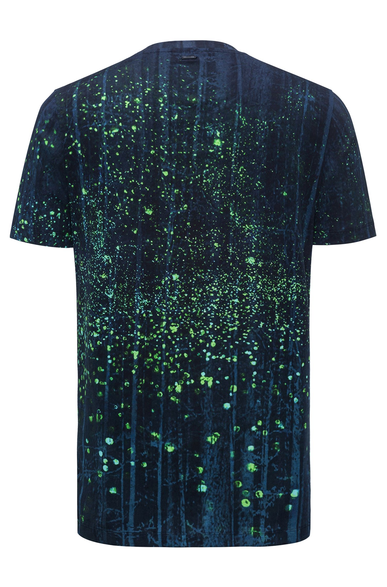 Relaxed-fit cotton T-shirt with firefly artwork