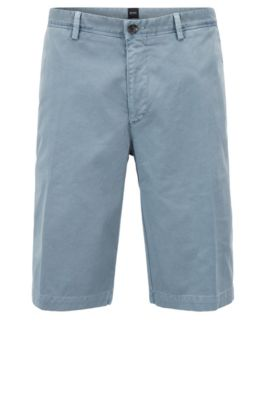 Pigment-dyed chino shorts in a regular fit, Open Blue