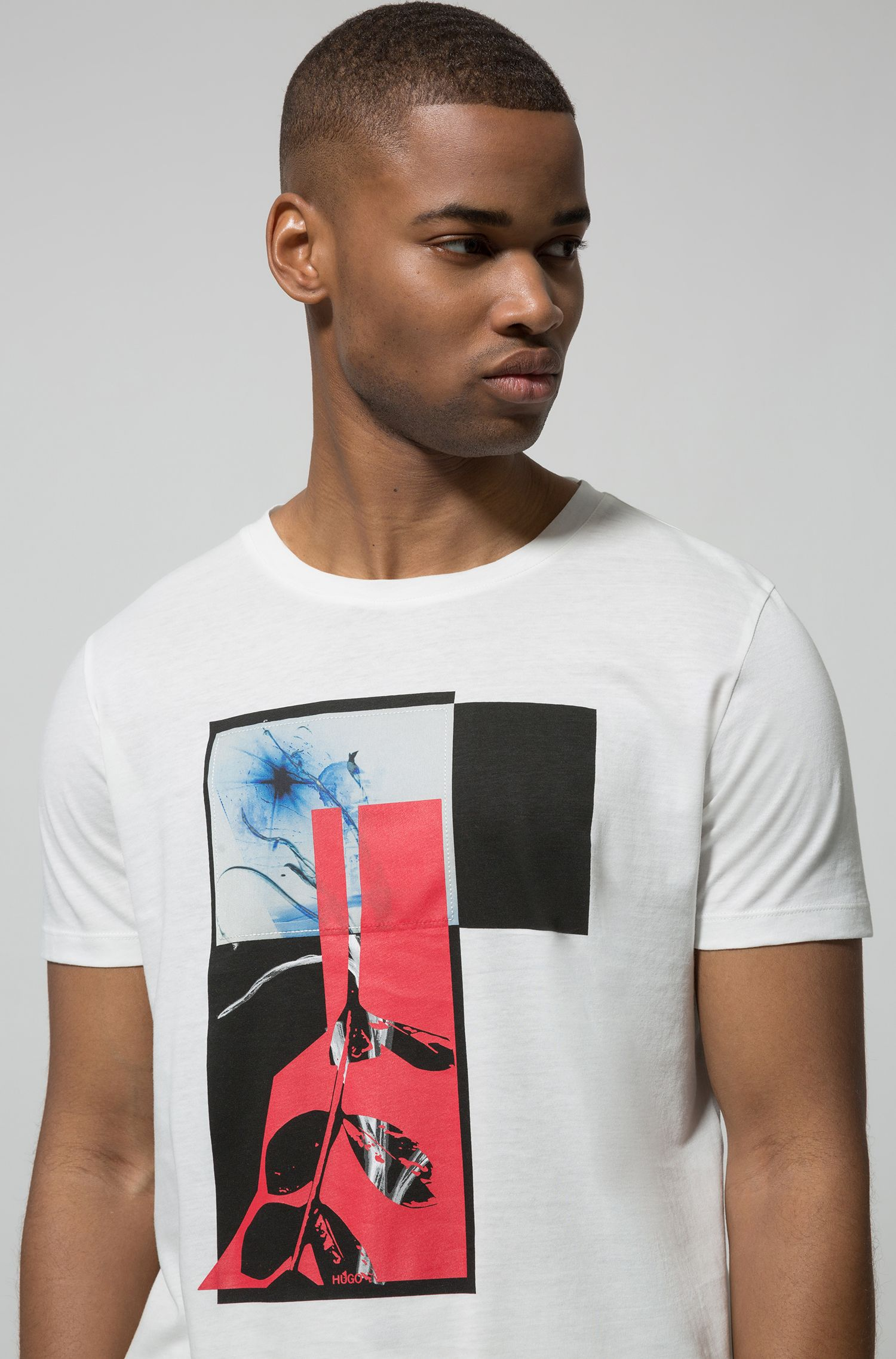 Relaxed-fit T-shirt in cotton with abstract print