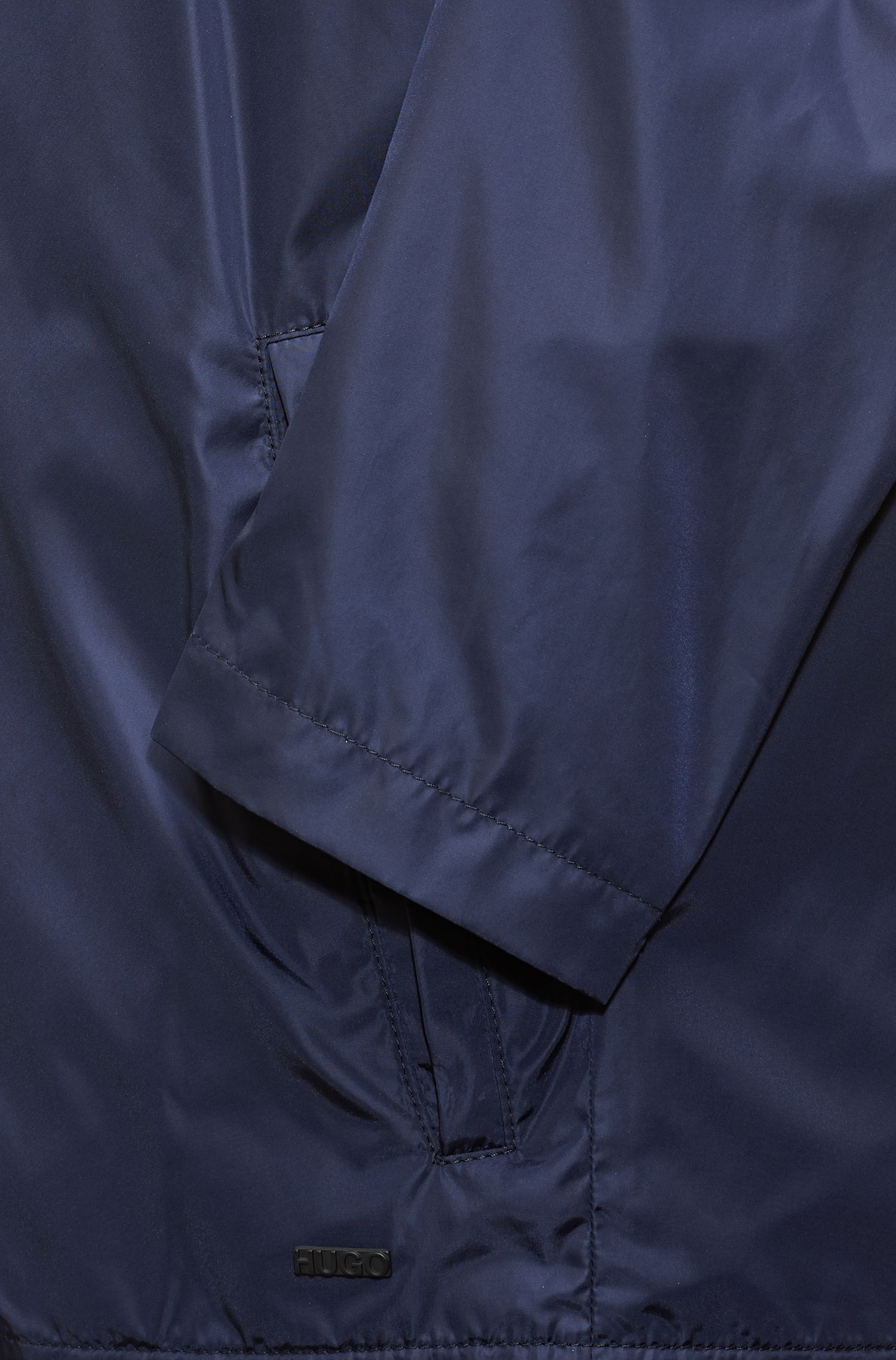 Technical bomber jacket with water-repellent finish