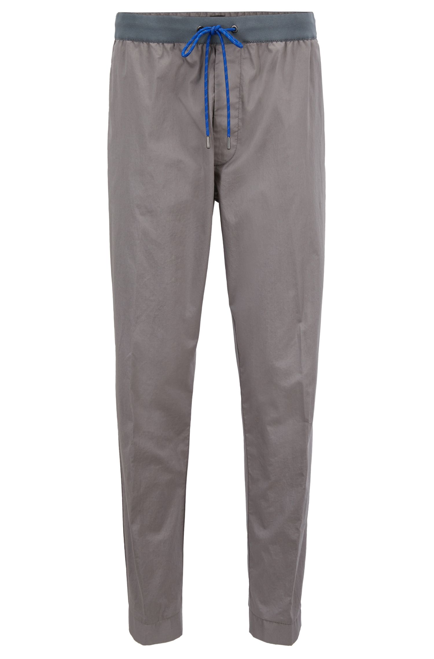 Relaxed-fit stretch-cotton chinos with drawstring waist, Open Grey