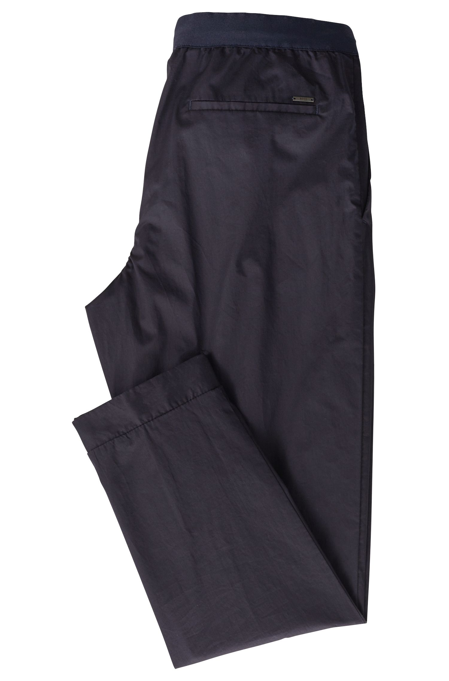 Relaxed-fit stretch-cotton chinos with drawstring waist, Open Blue