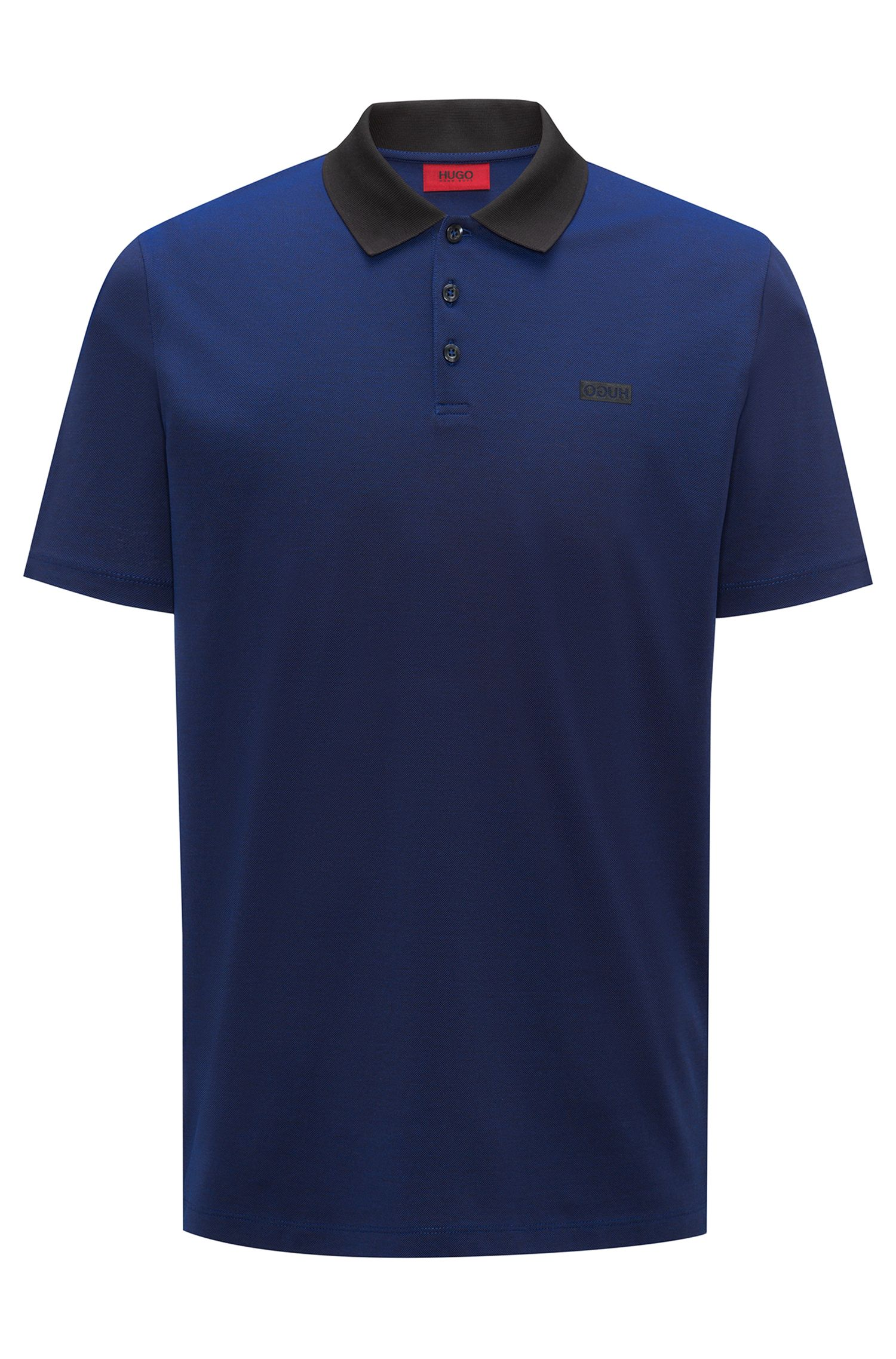 Polo shirt in Oxford cotton piqué with contrast collar
