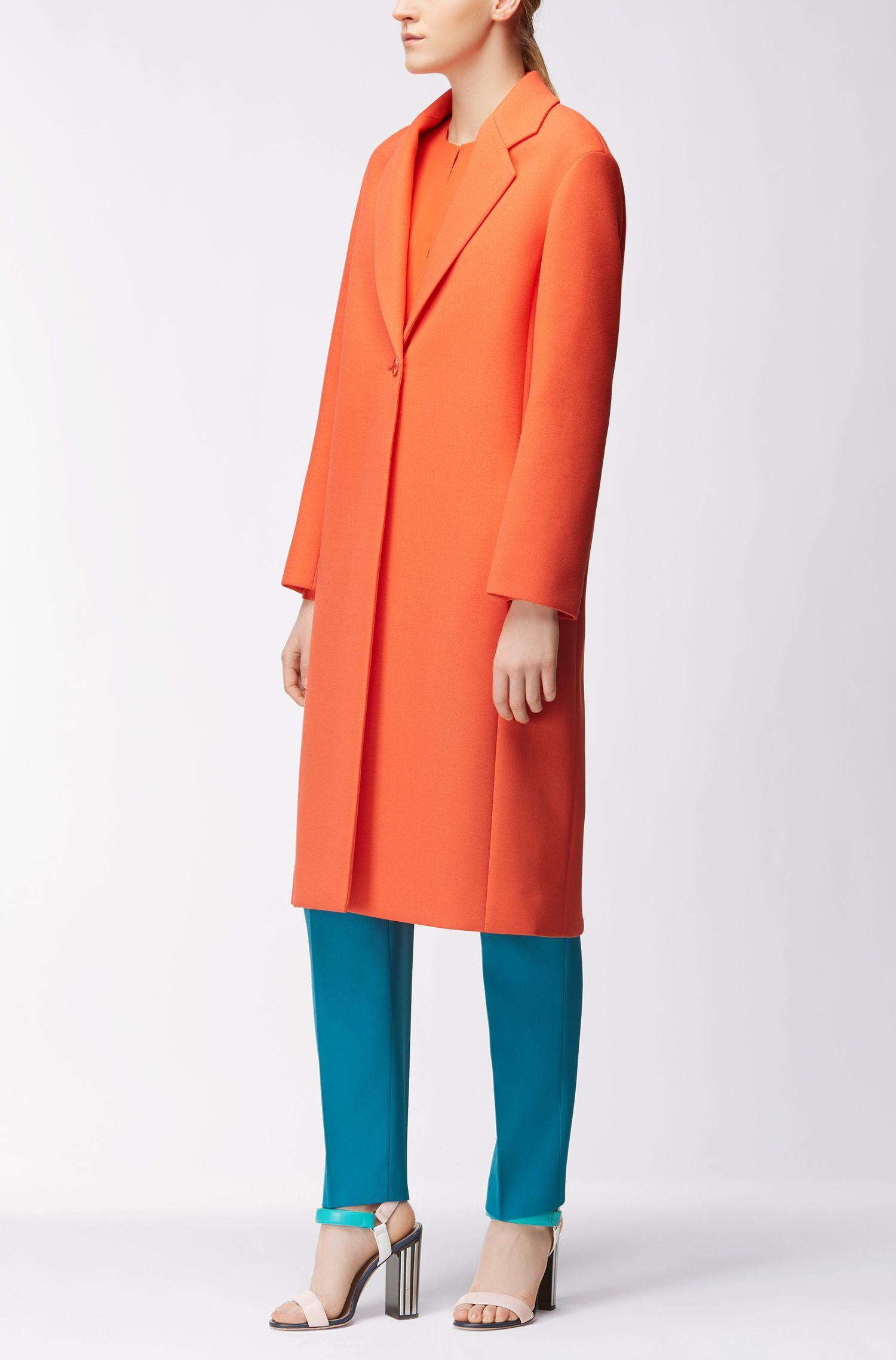 Single-Button Coat | Calenara GC, Orange