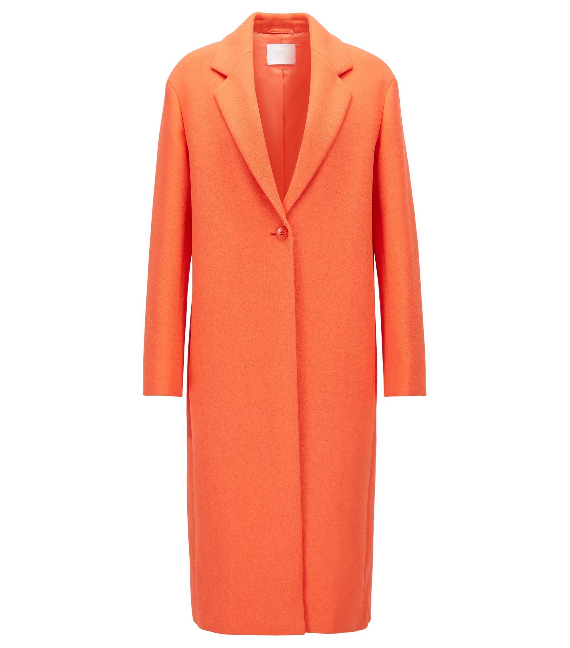 Single-Button Coat | Calenara GC, Orange
