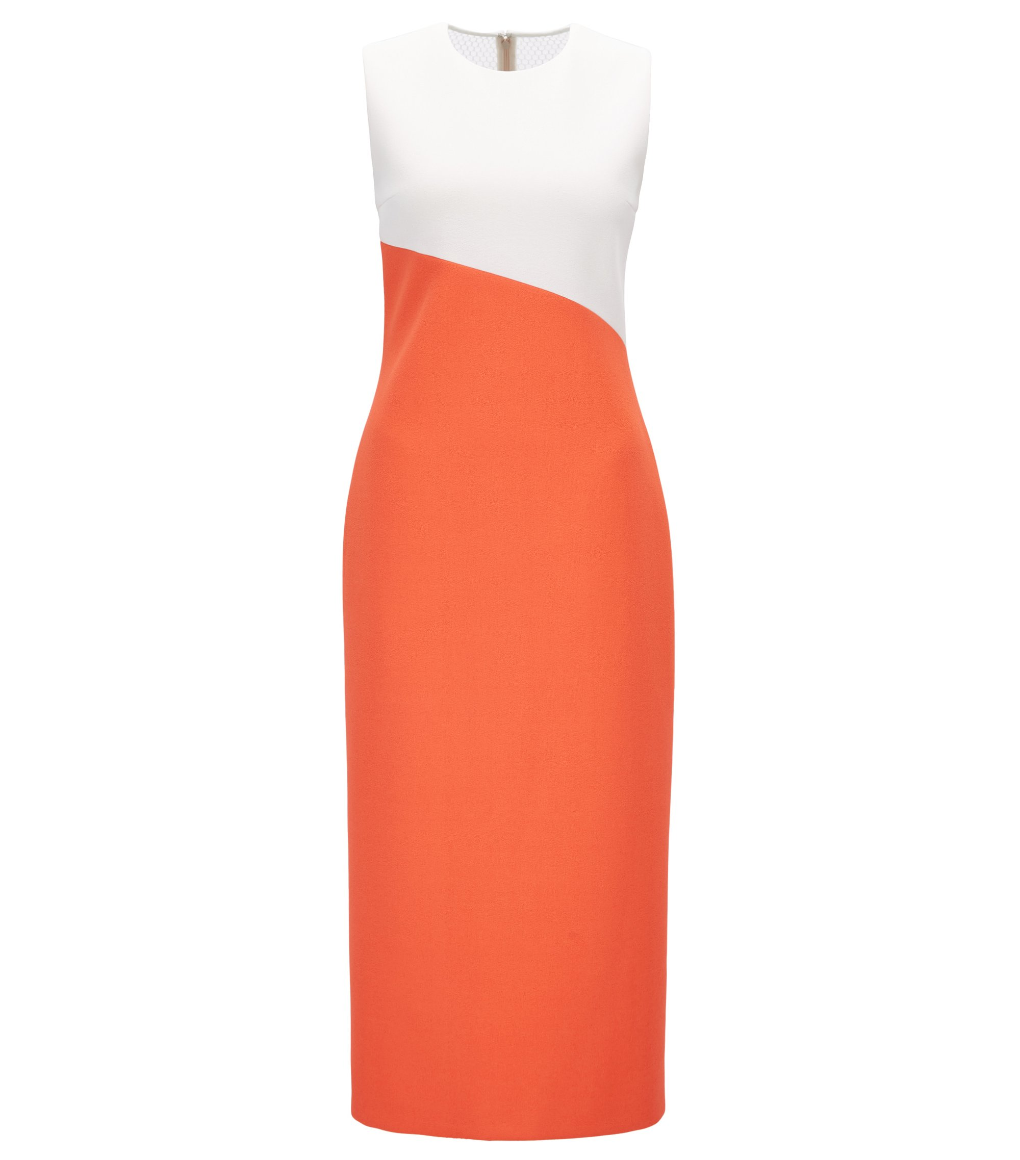Gallery Collection Crepe Midi Sheath Dress | Dalernira GC, Orange