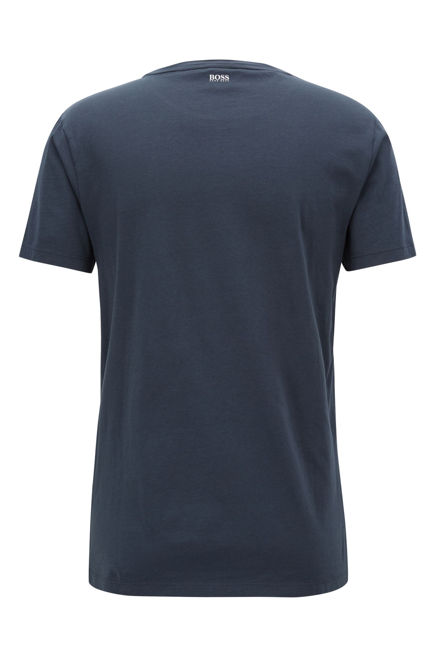 Washed cotton T-shirt with Big Ben print, Dark Blue