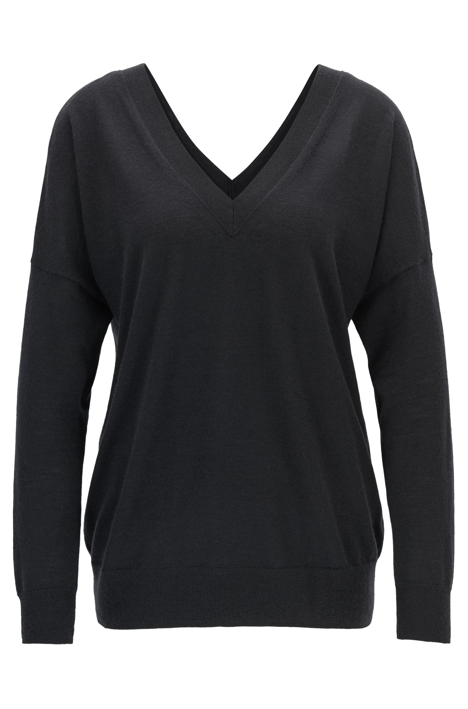 Gallery Collection Cashmere V-Neck Sweater | Fogue