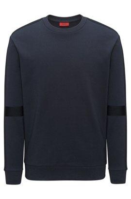 Oversized-fit sweatshirt with tone-on-tone panels, Dark Blue