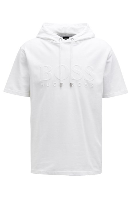 Cheap Best Place New Styles For Sale Short-sleeved sweatshirt with embossed logo BOSS Low Price Cheap Online Discount For Sale Cheap Footlocker Finishline NBUbNR