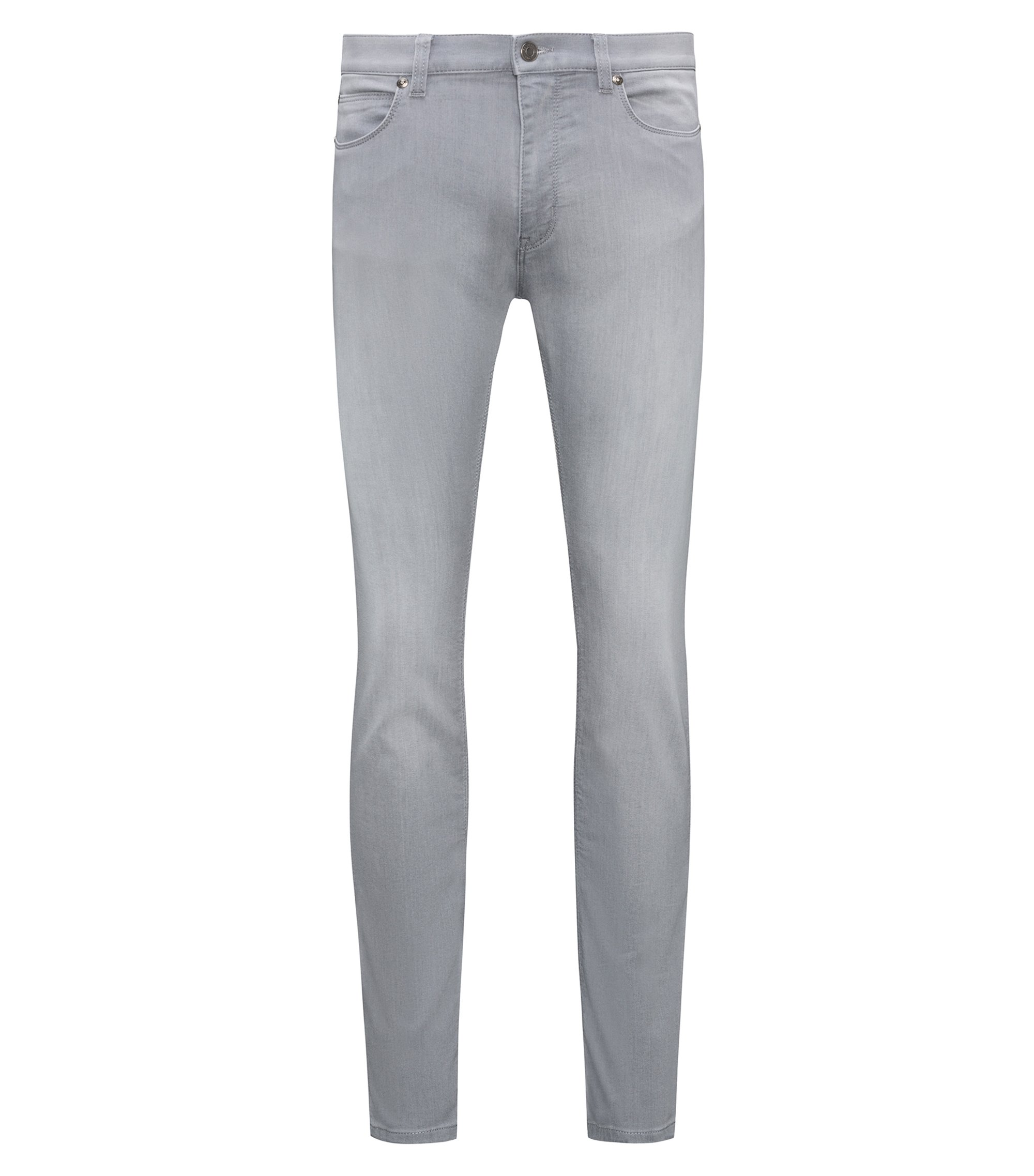 Skinny-fit stretch jeans with a low rise, Silver