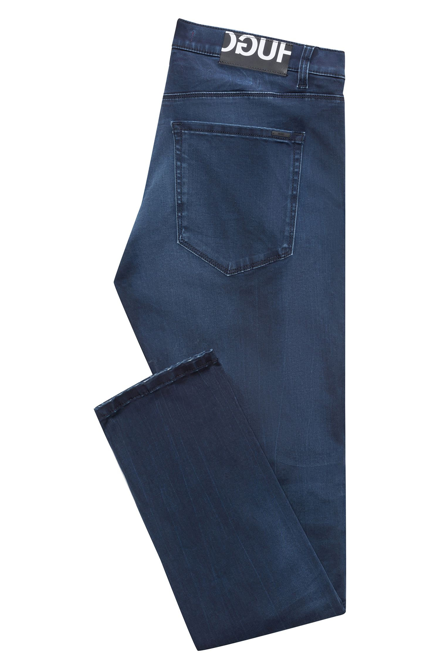 Skinny-fit jeans in stretch denim with logo patch