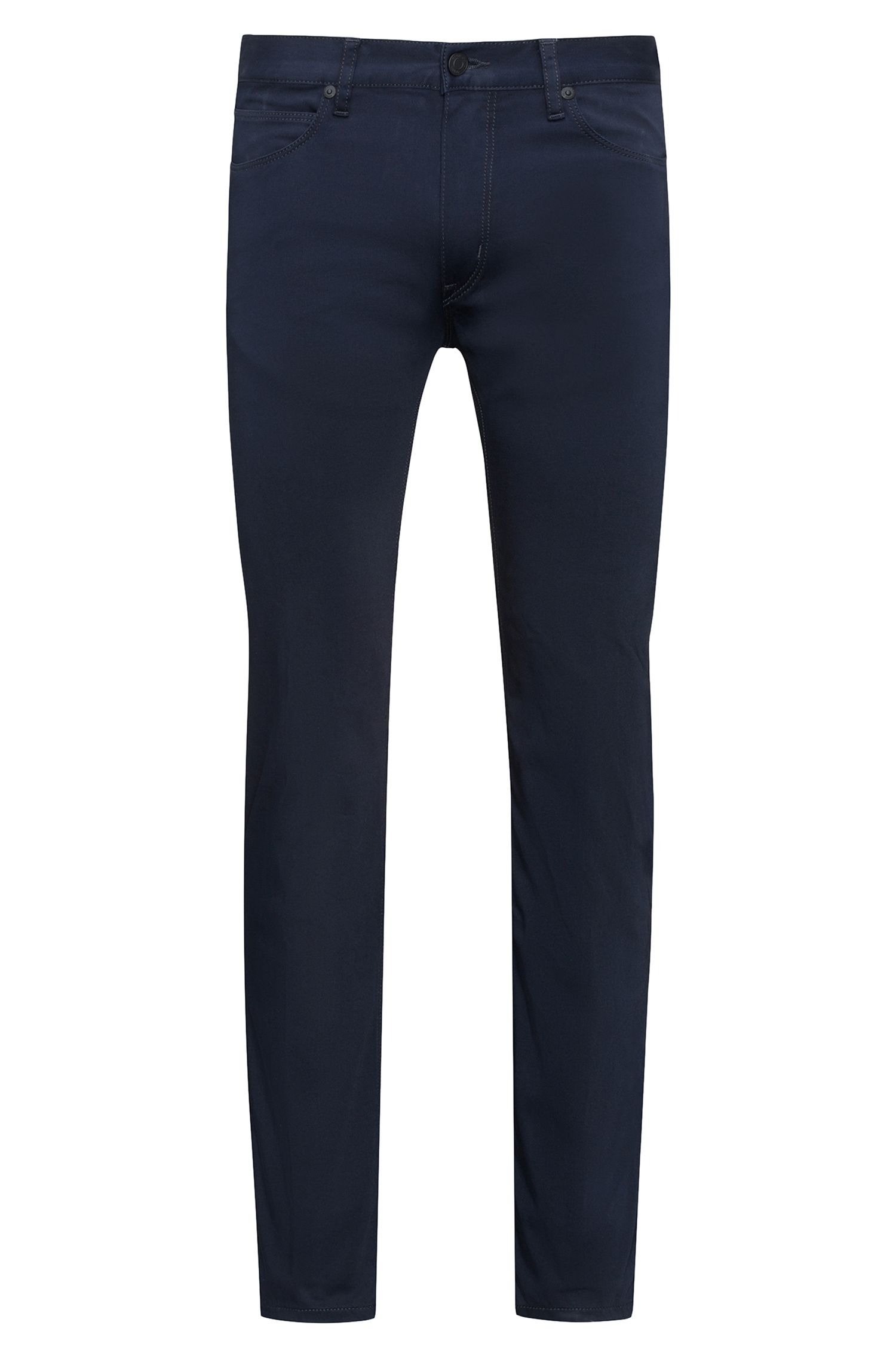 Slim-fit jeans in stretch denim with contrast piping