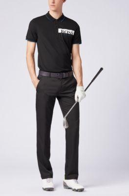d7d0ba217 BOSS - Slim-fit polo shirt with moisture-management