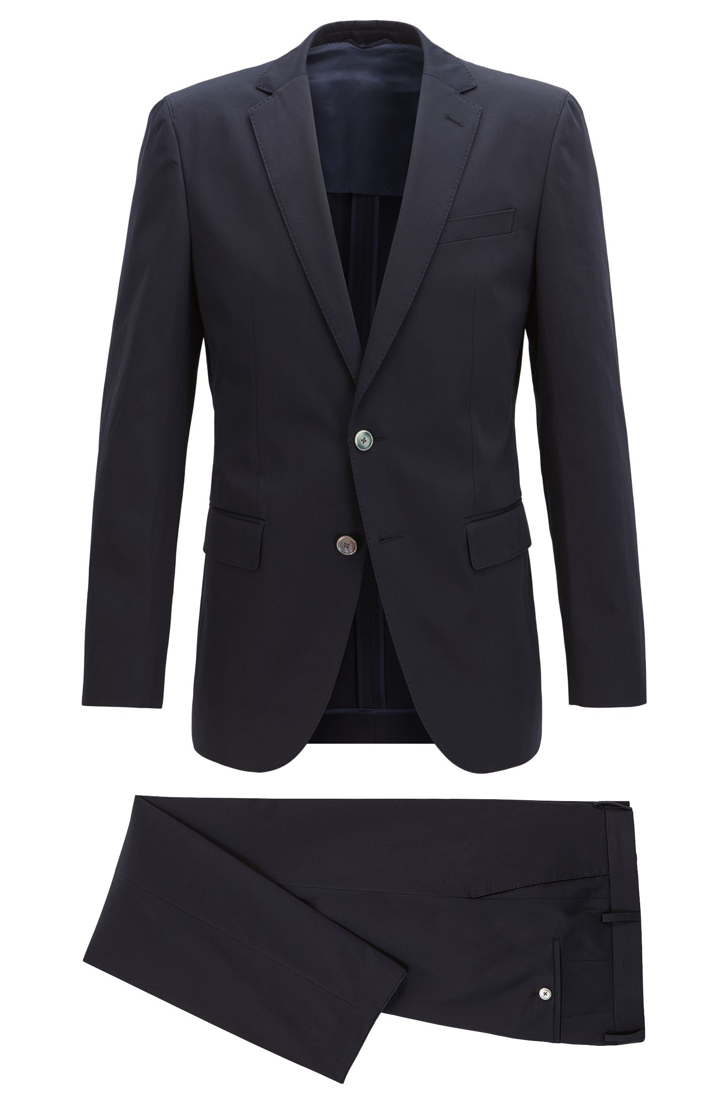 Stretch Cotton Suit, Slim Fit | Helford/Gander
