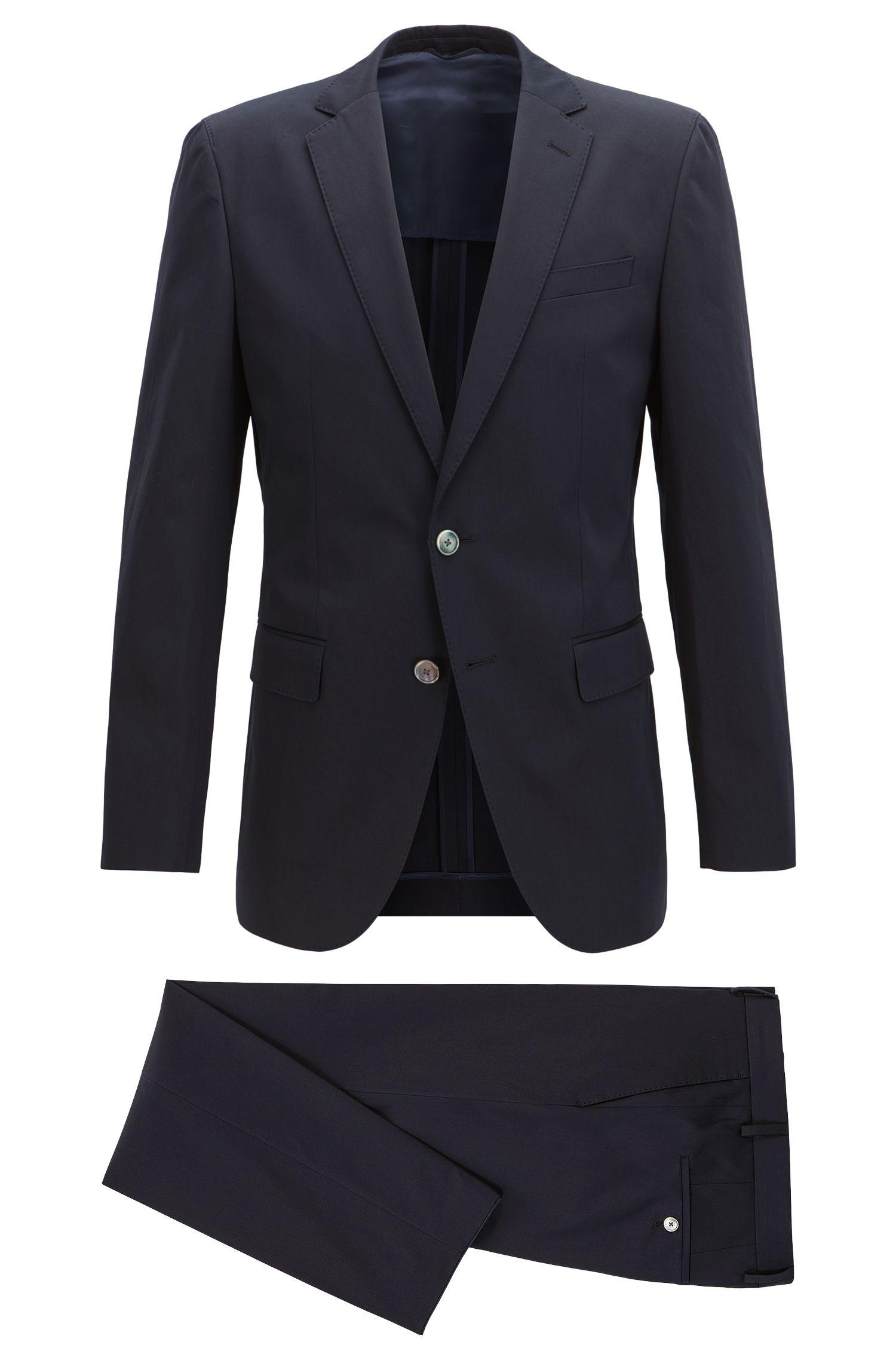 Stretch Cotton Suit, Slim Fit | Helford/Gander
