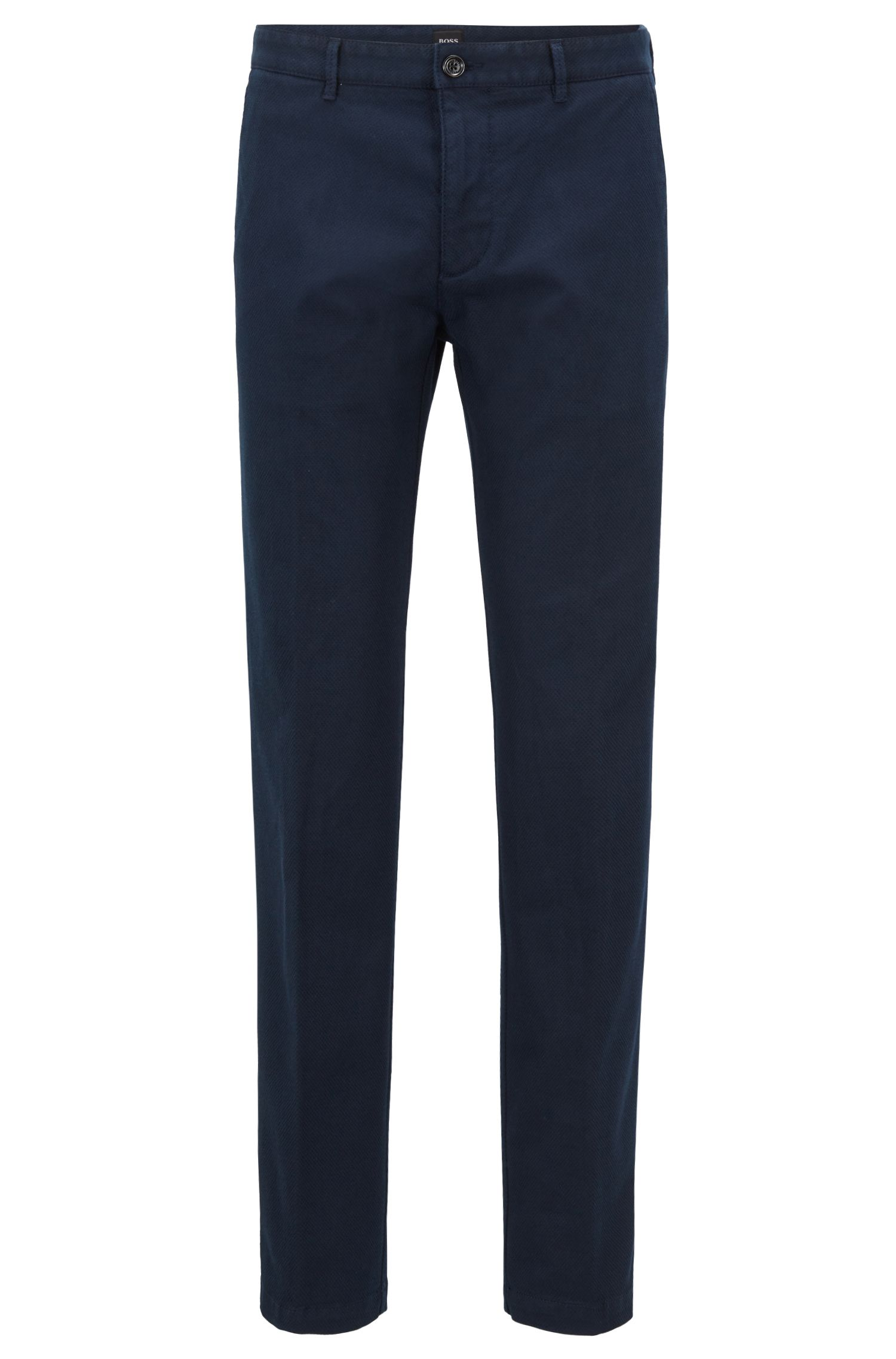 Regular-fit chinos in structured stretch cotton