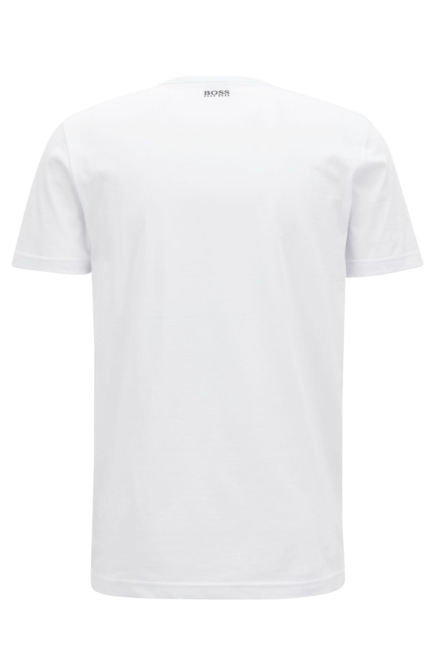 Crew-neck T-shirt with multi-colored logo print, White