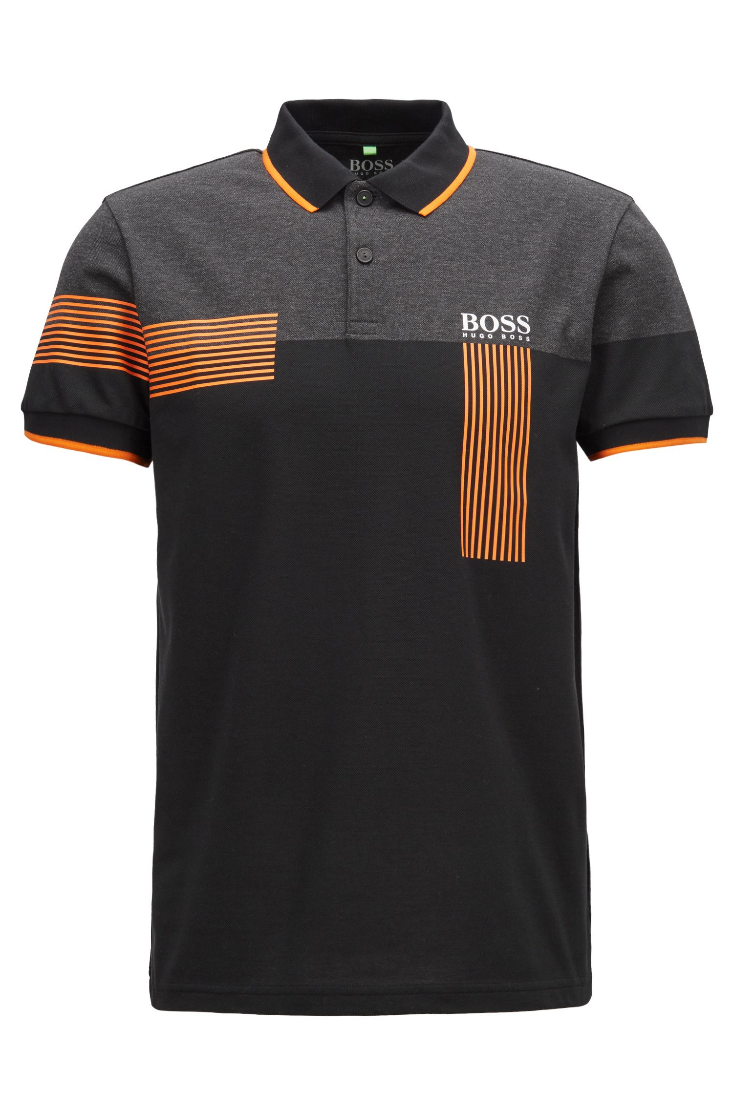 Regular-fit polo shirt in cotton-blend piqué