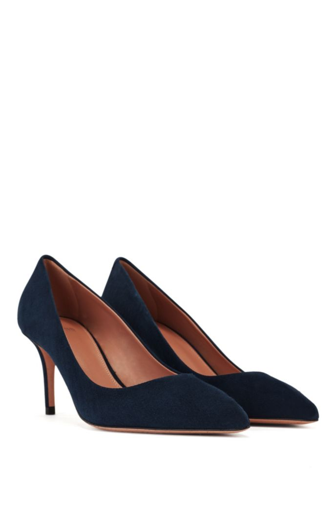 Suede court shoes with 70mm – 2.76inch heel