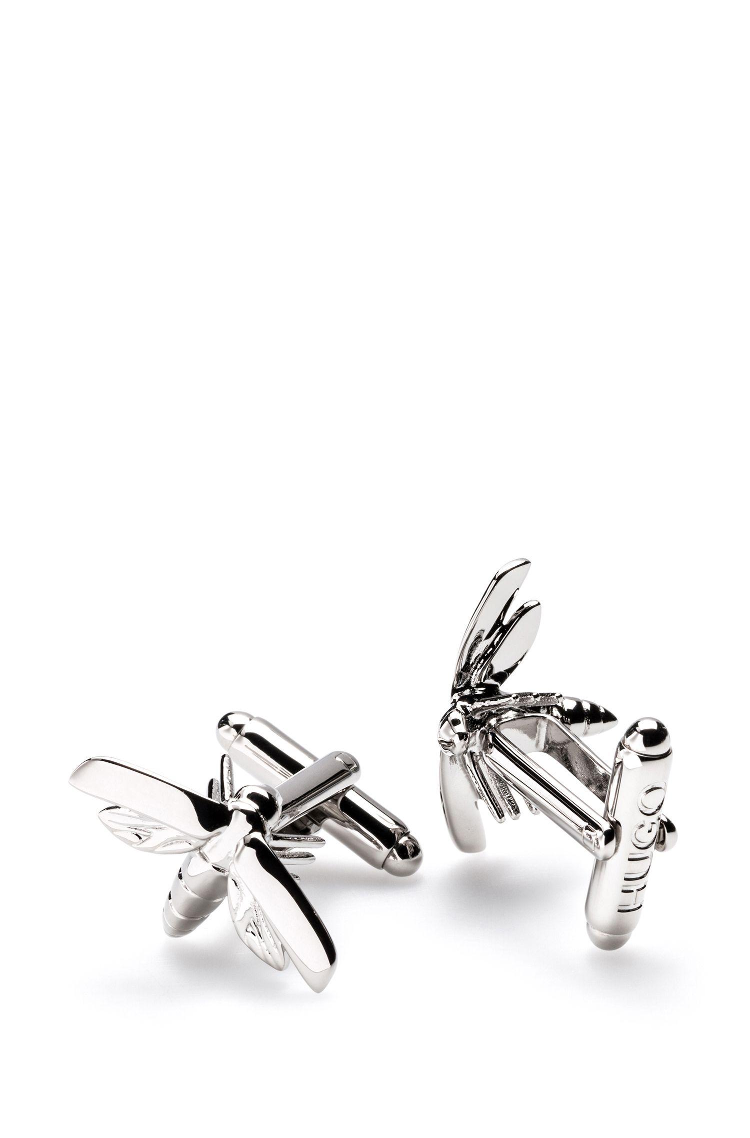 Firefly cufflinks in polished metal