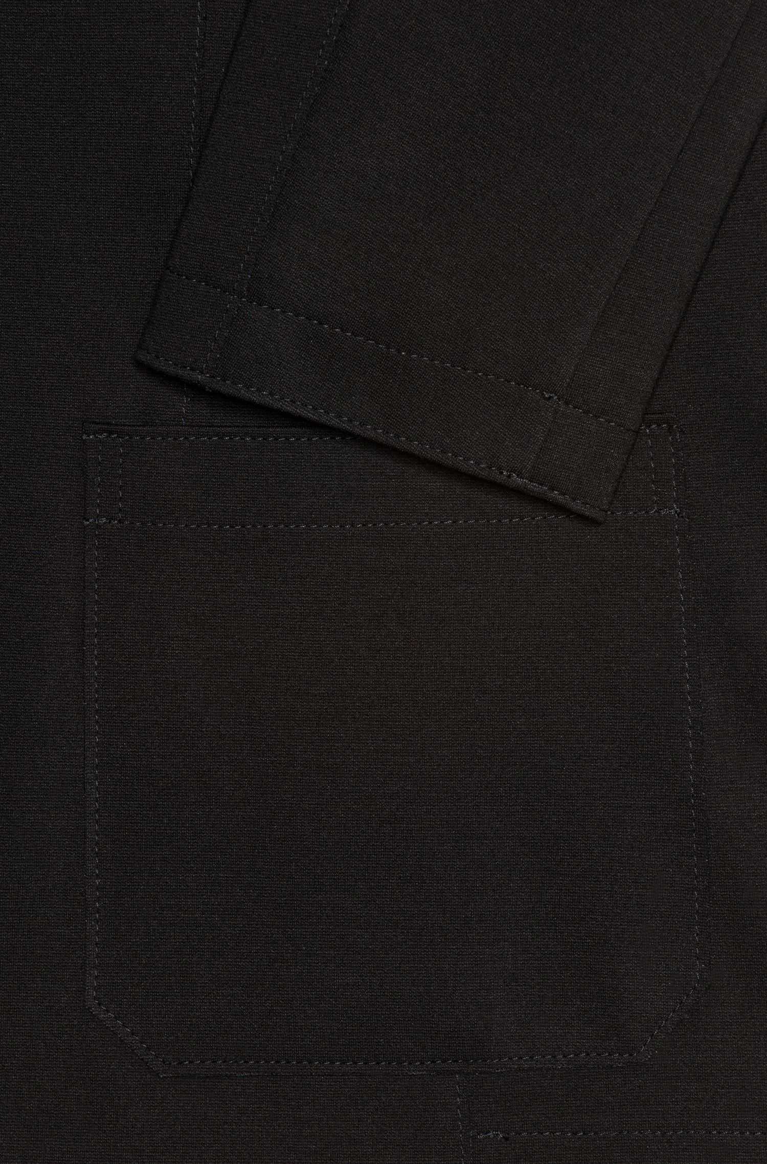 Open Cut Jersey, Extra Slim Fit | 'Ardis', Black