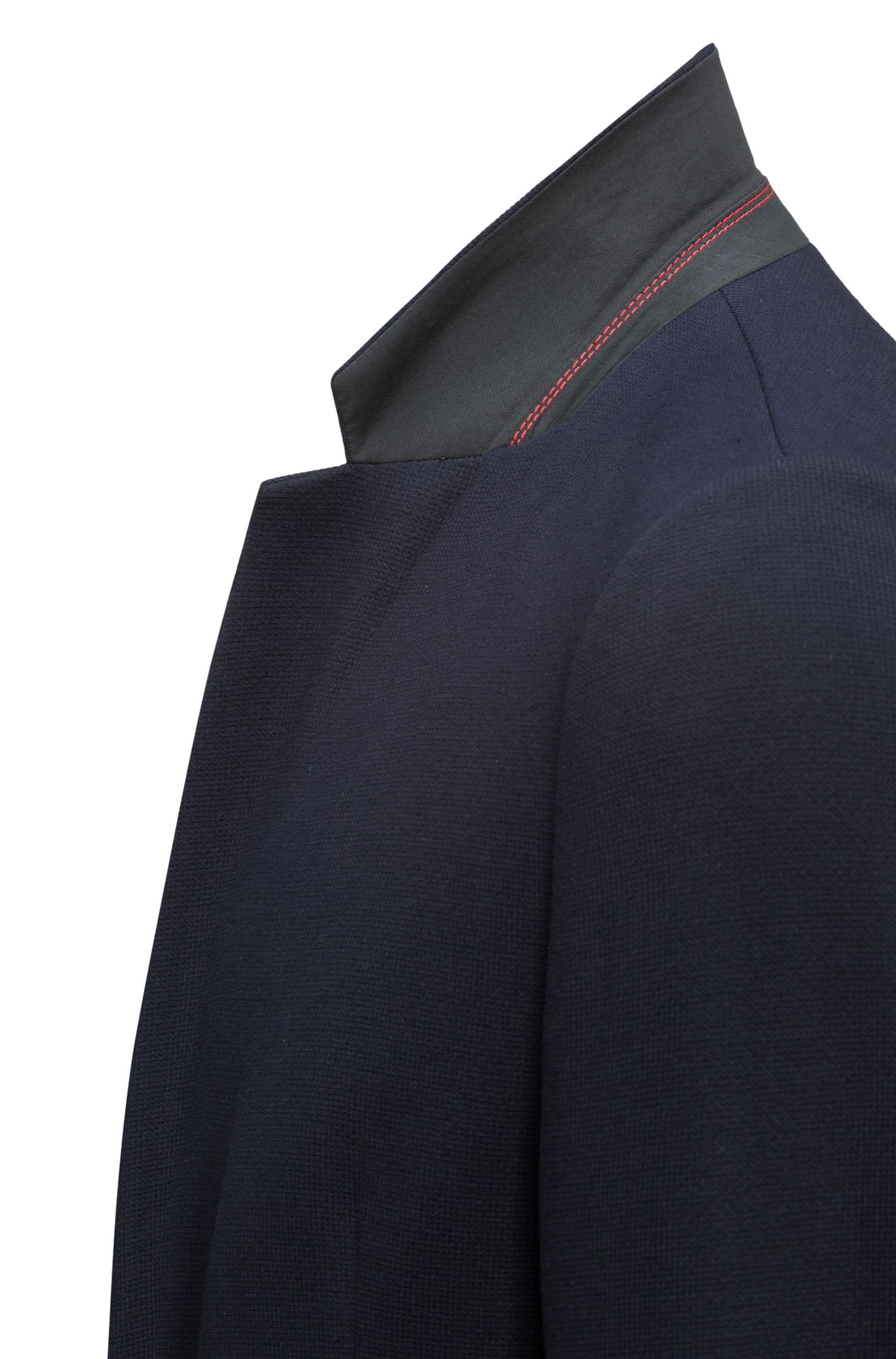 Slim-fit tailored jacket with reverse lapels