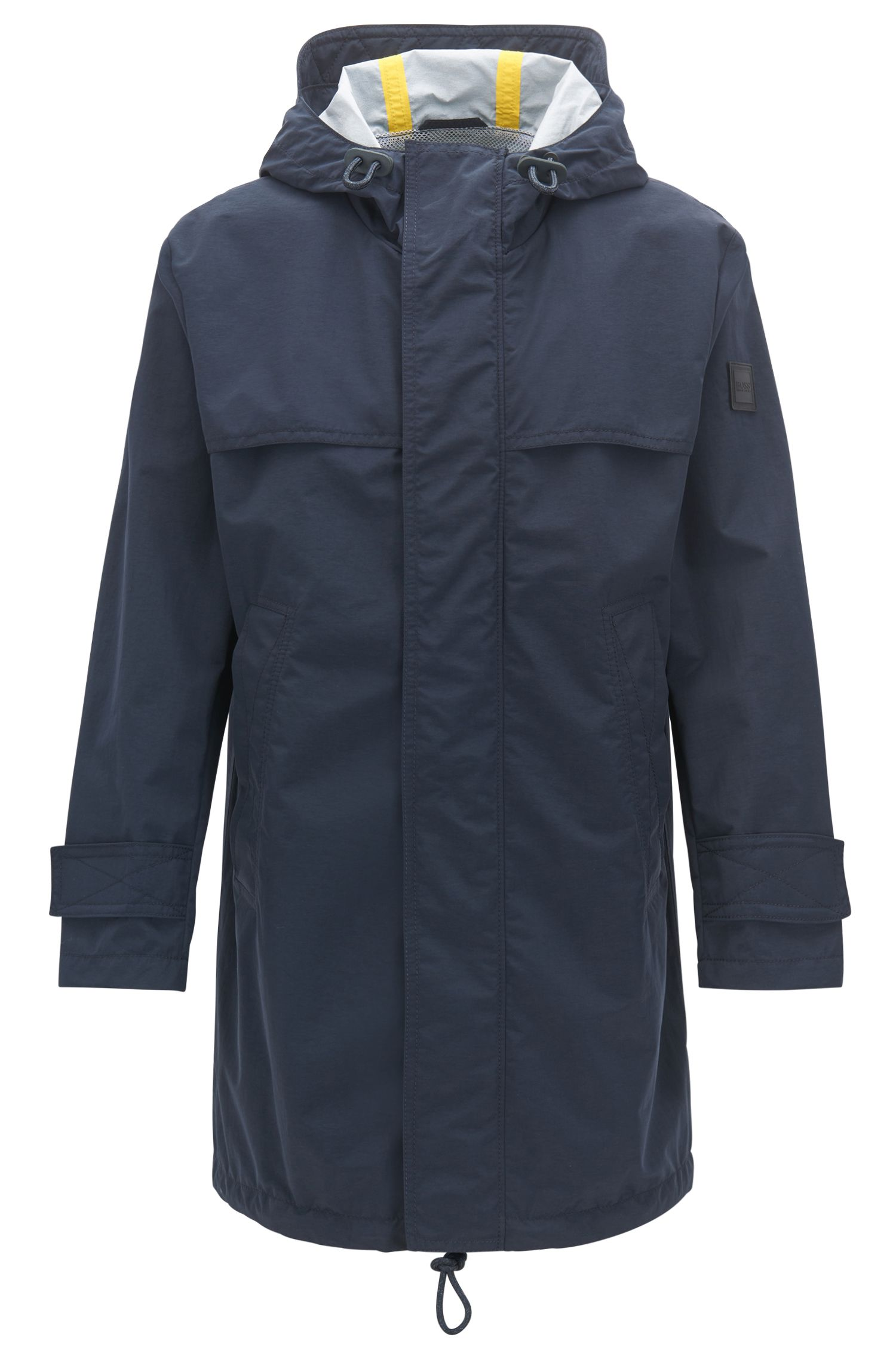 Relaxed-fit raincoat in two-layer performance fabric, Dark Blue