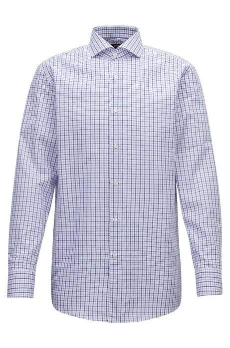 Slim-fit checked shirt in pure Oxford cotton BOSS Low Price Online Sale Cheap Price tJPQnS