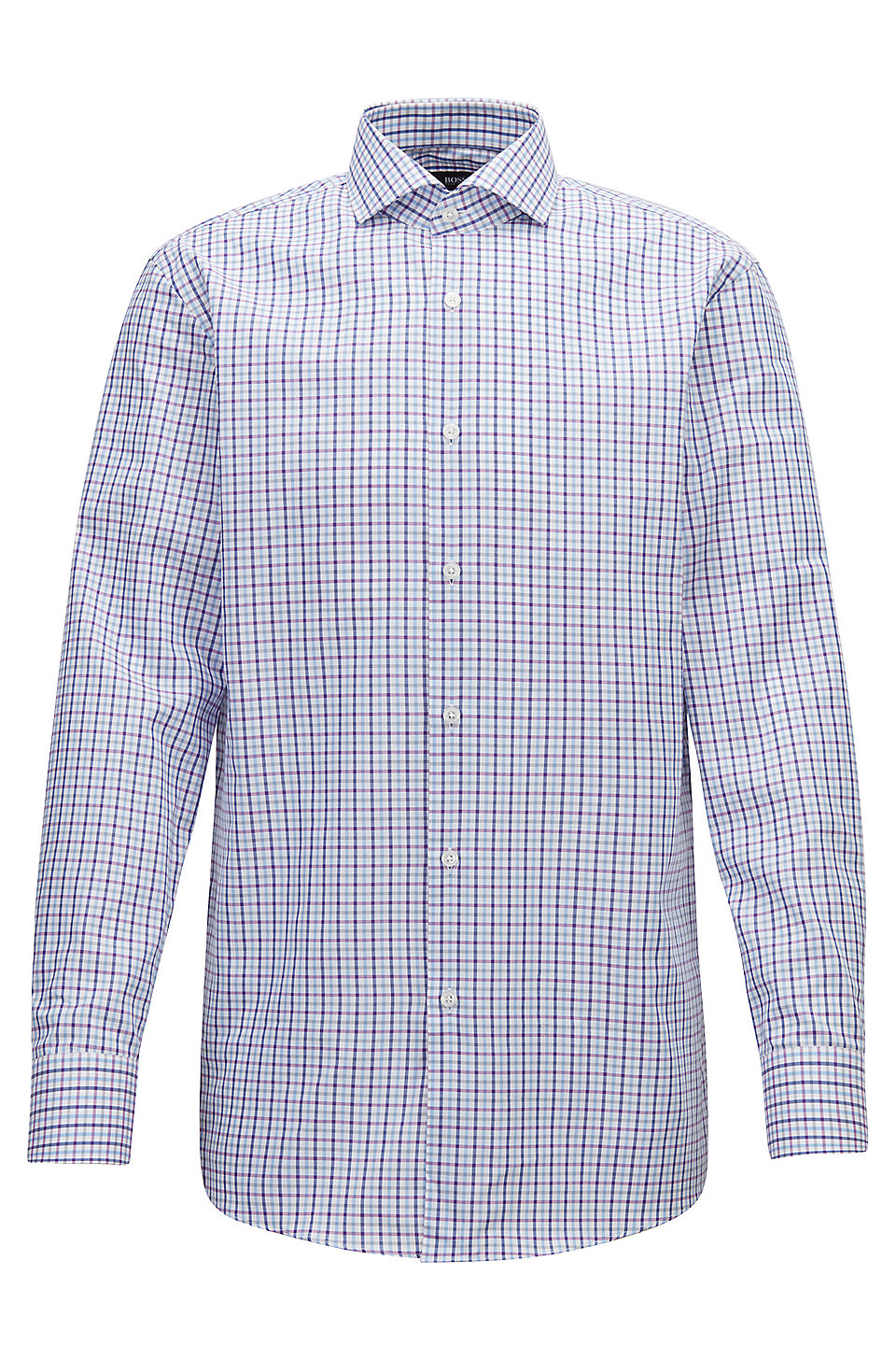 Boss Slim Fit Shirt In Oxford Cotton With Gingham Check