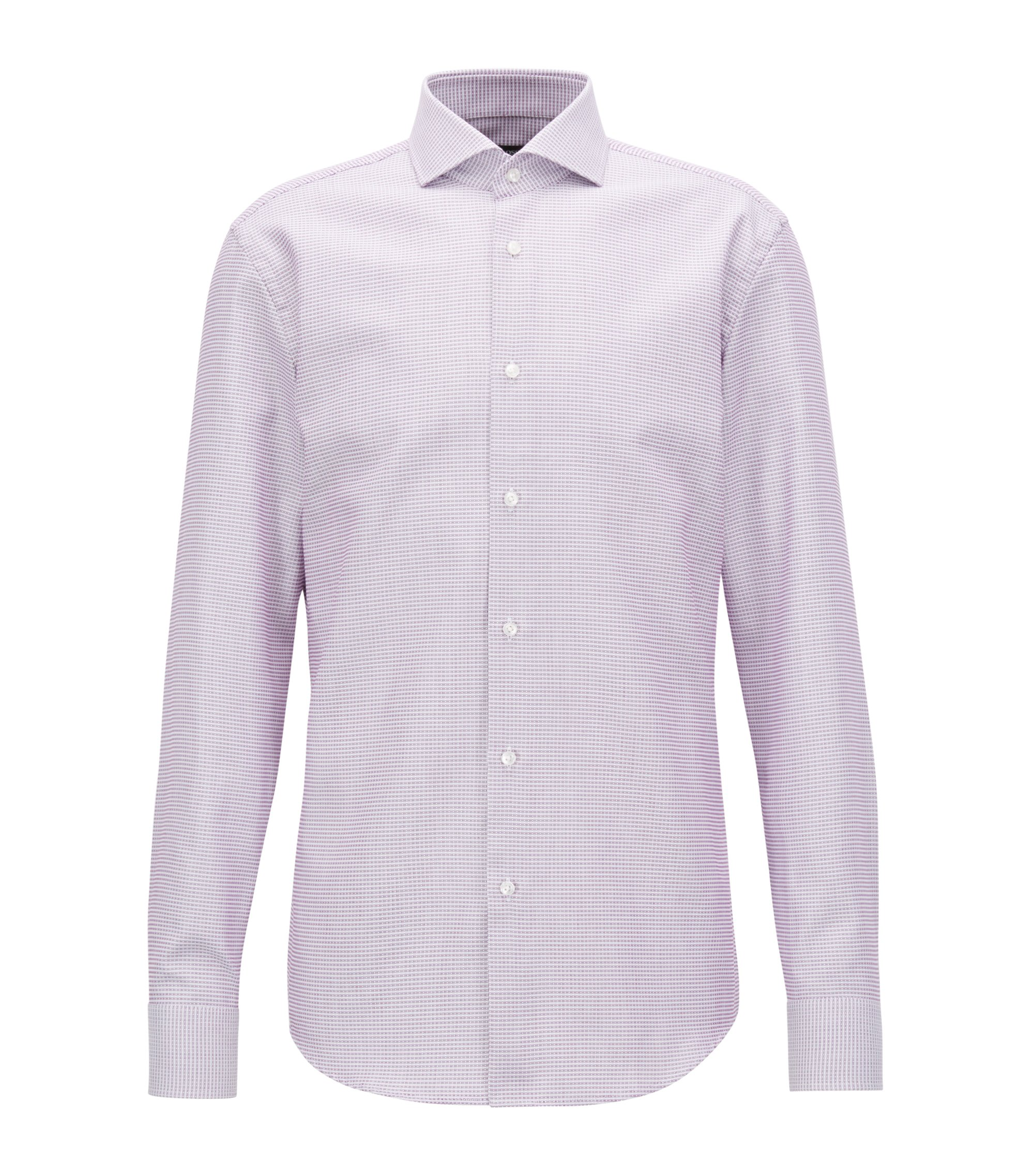 Slim-fit shirt in cotton with Fresh Active finishing, Dark pink