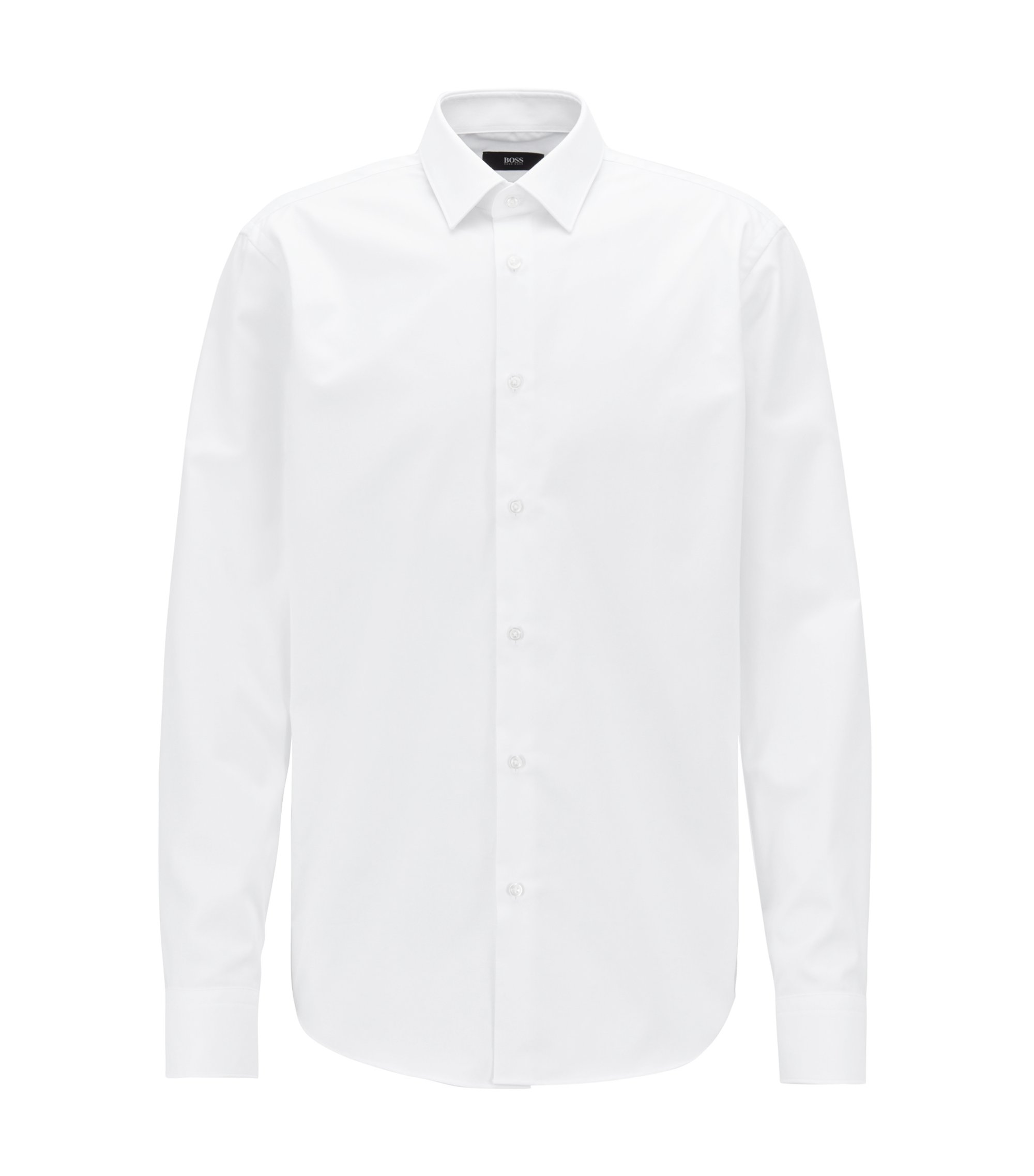 Regular-fit shirt in Fresh Active cotton, White