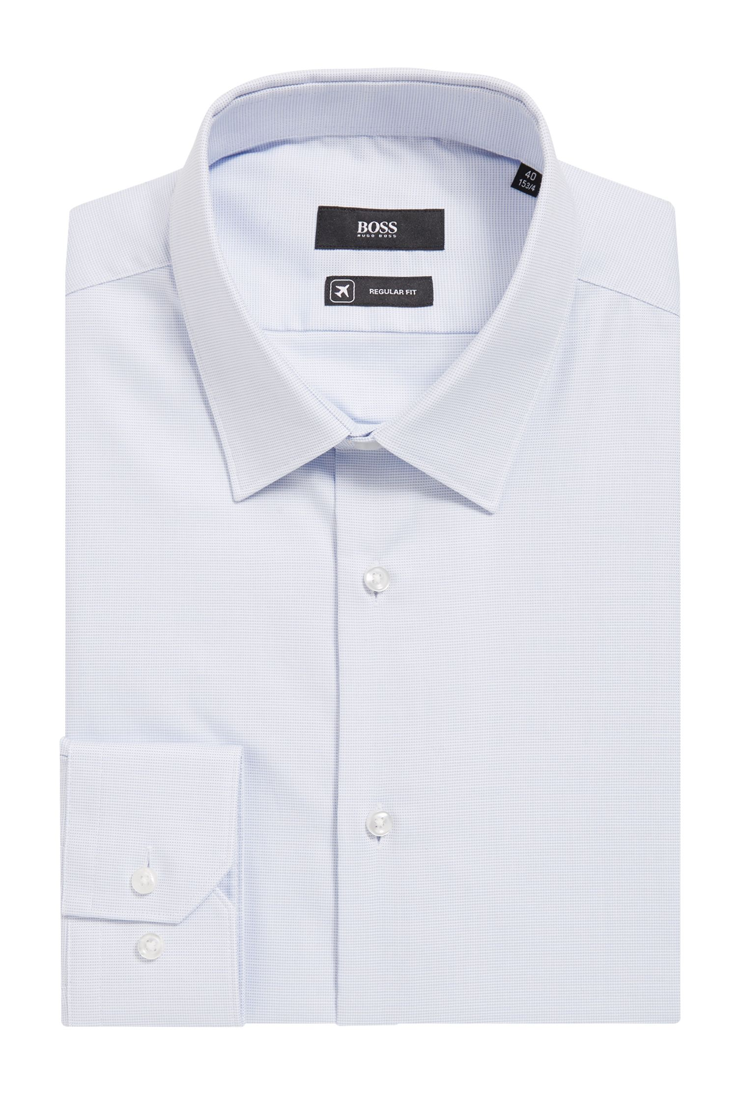 Regular-fit shirt in Fresh Active cotton, Light Blue