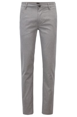 Slim-fit chinos in printed stretch cotton BOSS Cheap Sale Best Seller Cheapest YgrTJZ