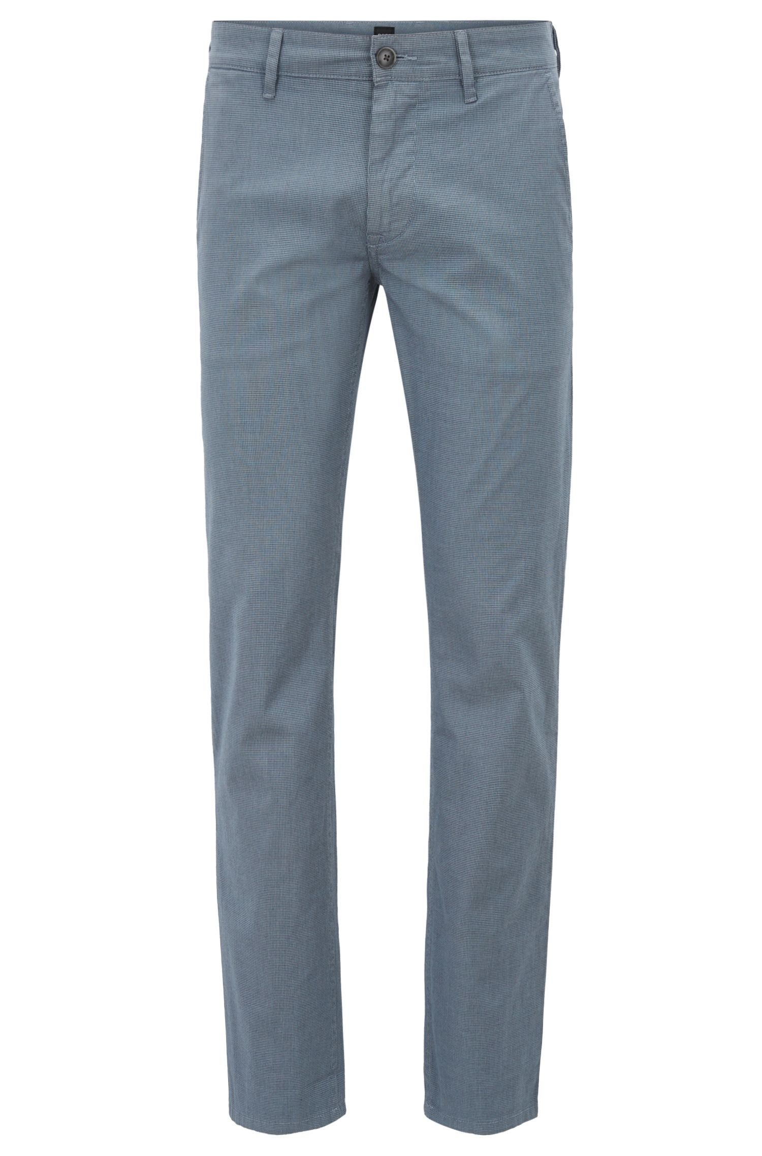 Slim-fit chinos in micro-pattern stretch cotton