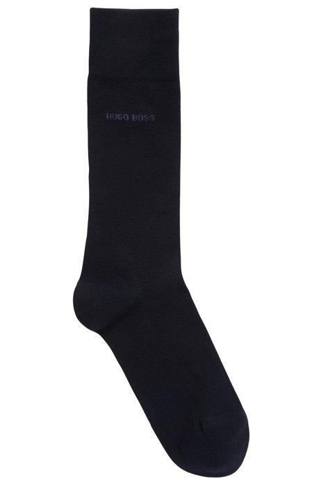 Regular-length socks in antibacterial stretch fabric with bamboo, Dark Blue