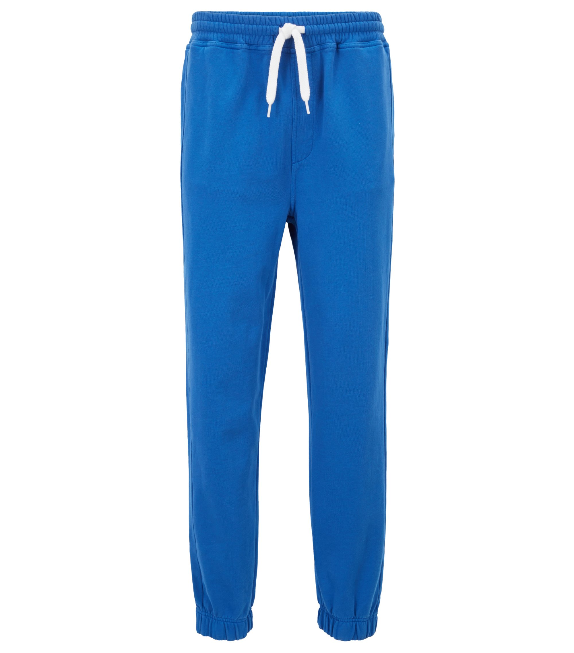 French-terry cuffed pants in a regular fit, Blue