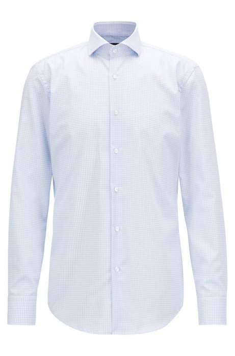 bc0a1df19 BOSS - Swiss-made shirt in cotton with non-iron finishing