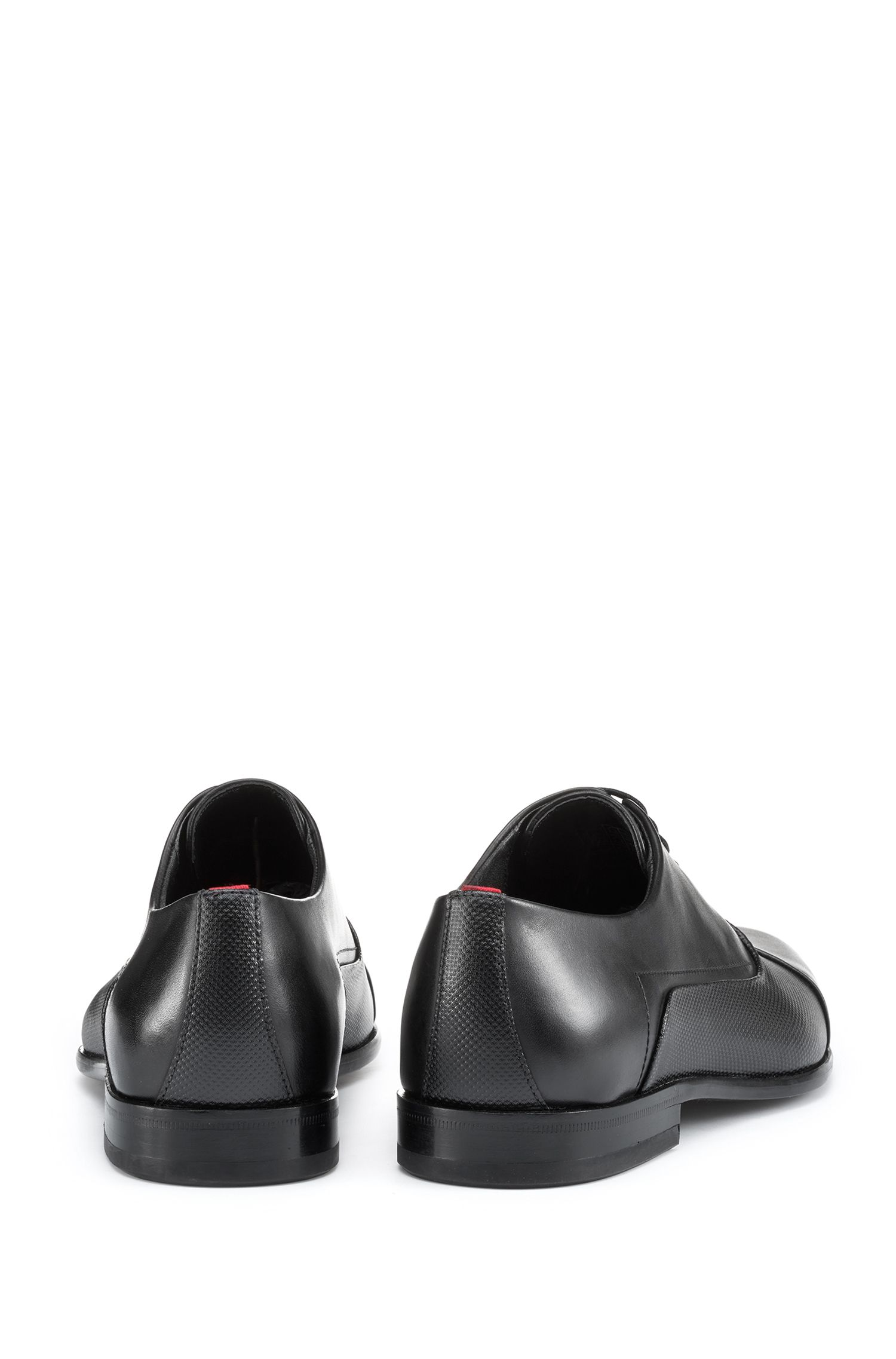 Oxford shoes in calf leather with printed vamp