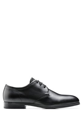 Cheap Sale Shop Offer BOSS Hugo Boss Italian-made Derby shoes in burnished calf leather 11.5 Dark Brown Browse Sale Online Outlet With Paypal Order tWR86cJIK