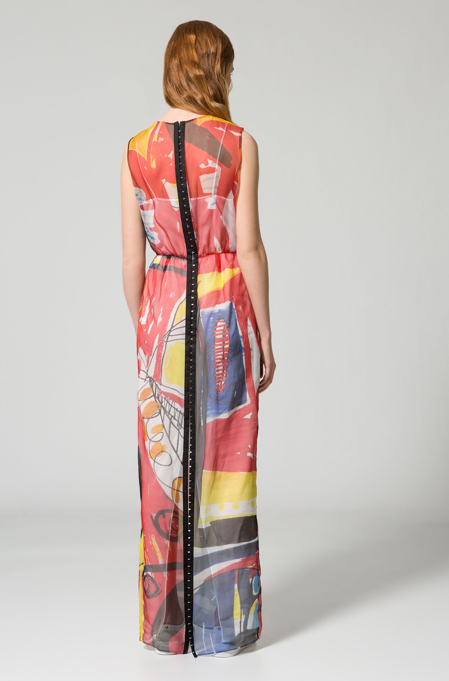 Printed Silk Dress | Koluni